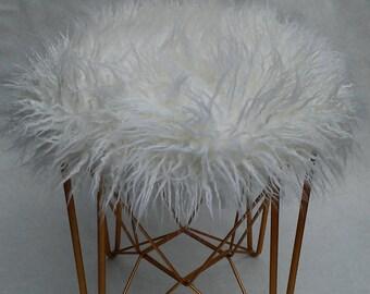 Fur Vanity Stool