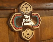 Personalized Polynesian Themed Family Last Name Sign / Plaque ( Disney Tiki Polynesia Resort / Park Prop Inspired Replica )