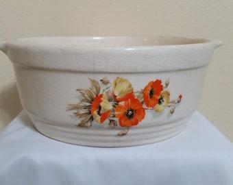 Orange Poppy Flower Bowl
