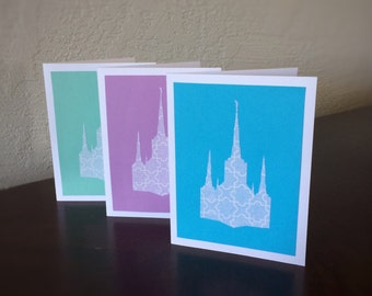 Thank You Card for Baptism - LDS Card - LDS Temple - LDS Baptism Invitation - Custom Lds Temple Card