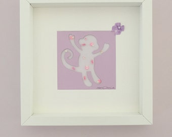 Handmade Sequin Monkey Art