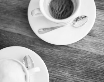 Paris Photography, Café in Paris, Black and White Art Print, Paris Print, Home Decor, Paris Decor, Kitchen Decor, French Coffee