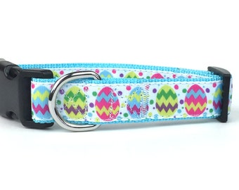 Decorated Easter Egg Nylon Dog Collar