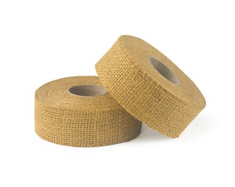 "8oz Gold Burlap Ribbon Roll - 10 Yards Long, 1.5"" and 3"" Widths Available, Multiple Pack Sizes Available"