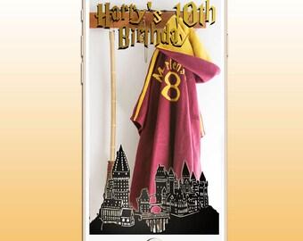 SNAPCHAT Geofilter Harry Potter Hogwarts Party, Birthdays/ Weddings /Baby Shower/ Bridal CUSTOM, disney, marvel, J K Rowling Gryffindor
