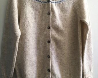 """Ladies Shetland Wool """"Isles Knit"""" Wool Sweater L/XL"""