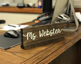 Desk name plate | Etsy