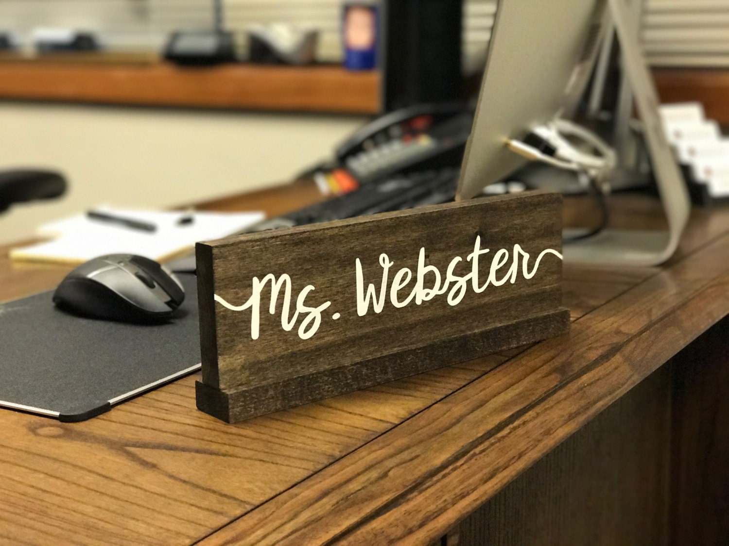 Personalized Desk Name Plate Teacher Desk Sign Doctor Name