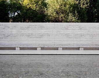 Mies Van der Rohe Pavilion - photograph of Olivier Vanhoeydonck