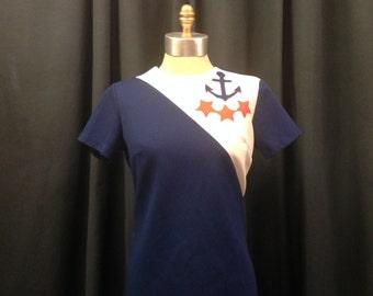 Nautical Sweetheart Mod Shift Dress