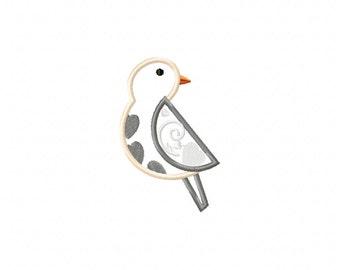 Vintage bird machine embroidery applique, bird applique design, applique bird, machine embroidery bird