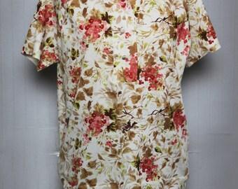 Clear flower shirt