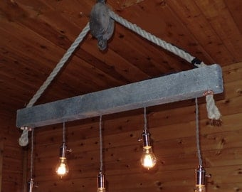Barn Wood Chandelier