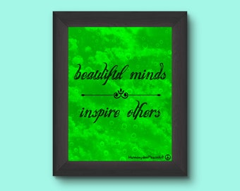 Printable Poster 8 x 10  BEAUTIFUL MINDS