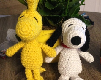 Crochet Snoopy and Woodstock