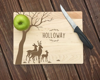 Anniversary Gift, Couple Cutting Board, 5th Anniversary Gift, 5th Anniversary Gift for Her, Hunting Gifts, 5th Anniversary Gift Wood, Couple