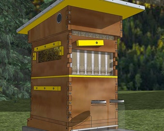 Flow Hive Plans - DIY and Save - (8-Frame Langstroth - uses 6 Flow Frames)