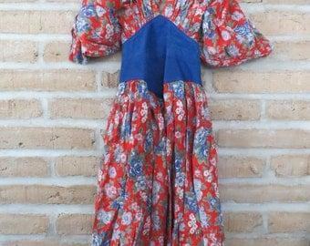 Stylish Vintage Floral Party Dress