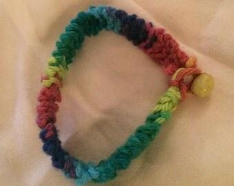 Rainbow Knit Friendship Bracelet