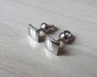 Silver stud earrings studs Four Square