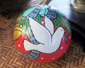 Dove and Peace Christmas ornament