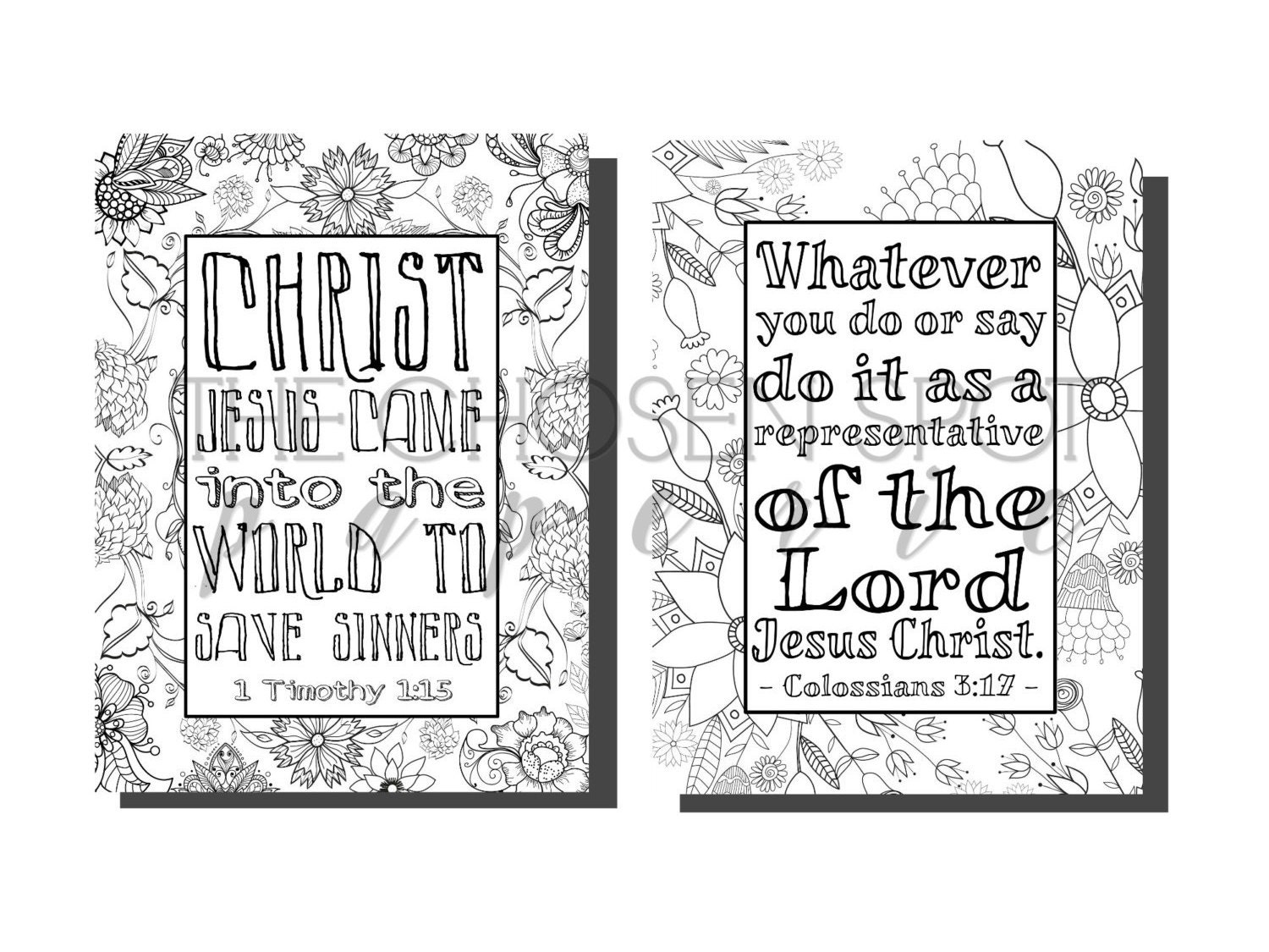 coloring pages bible verses printable christian gifts