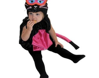 infant kitty cat costume baby kitty black and pink costume cute kitty cat baby - Baby Cat Halloween Costume