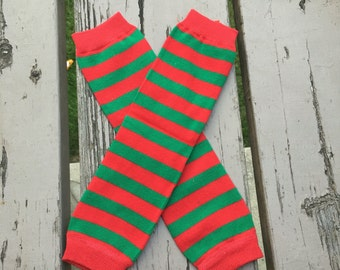 Christmas,leg warmers,christmas,red,green,holiday,leggings,baby girl,toddler,striped,xmas,photo prop,baby girl,toddler,girls