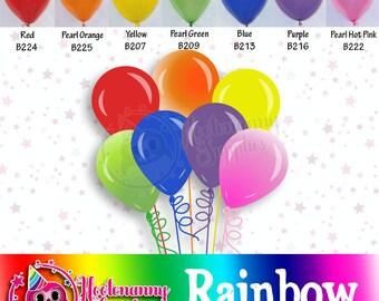 11 inch Latex Rainbow Balloons - 019
