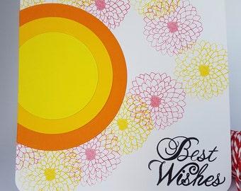 Colourful Circles Birthday Card Handmade BD12