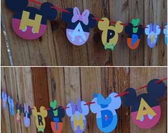 Mickey Mouse Clubhouse Birthday Banner