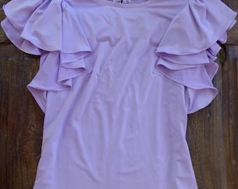Lavender Ruffle Golf/Tennis Top