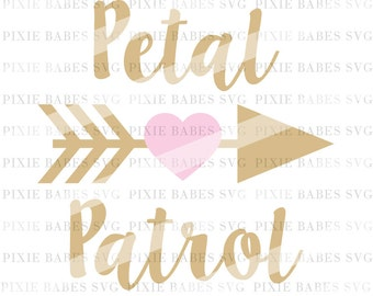 Petral Patrol SVG, Flower Girl SVG, Wedding svg, DIY Wedding svg, Wedding Clip art, cuttables, Bridal svg, Cricut, Silhouette, Cutting Files