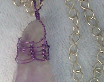 Amethyst Viking Knit necklace