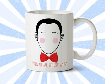 Pee-Wee Herman Bow Tie Mug - Funny Mug - I know you are but what am I - PeeWee Playhouse - Pee Wee Herman - 80's - 90's - Coffee Cup
