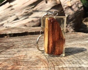 3D Wood and Resin Keychain