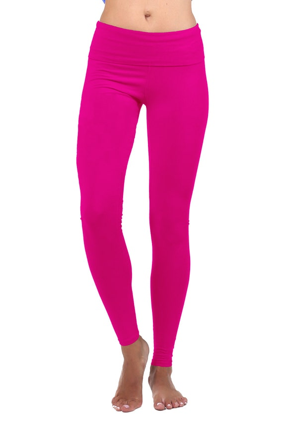 Hot Pink Leggings Plus Size