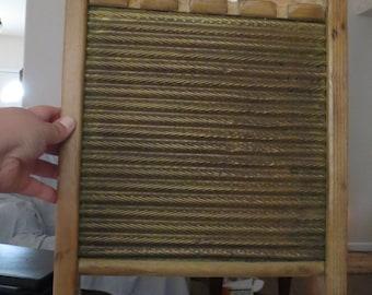Vintage Wooden Wash Board