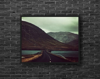 Road Trip Photo - Road Photography - Highway Photo - Mountains - Mountain Landscape Photo - Road Wall Art - Men Room Decor - Photography
