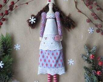Tilda doll. Textile doll.Cloth doll.Fabric doll.home decor.