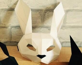PDF Crow full face mask/DIY Crow mask/Paper Crow mask/DIY