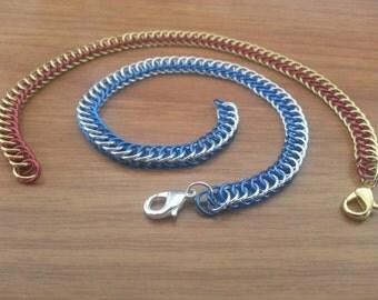 2 Color Half Persian Chainmail Bracelet