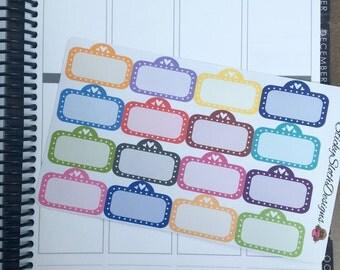 Multicolor Movie Marquees (16 Planner Stickers)