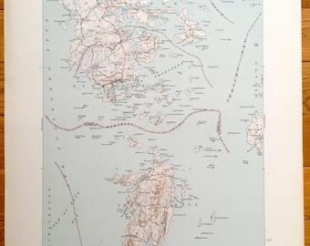 Antique Deer Isle, Stonington, Isle Au Haut, Brooklin & Swans Island, Maine 1944 US Geological Survey Topographic Map