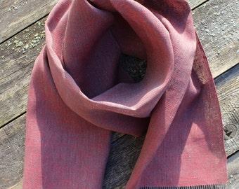 Handwoven Linen Scarf Shawl