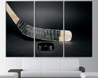 Large Hockey Wall Art Hockey Canvas Art Hockey Decor Hockey Stick Photo Hockey Stick Print Hockey Washer Photo Hockey Print Hockey Poster