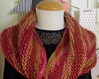 Knit neck warmer,  warm scarf,  Alpaca scarf
