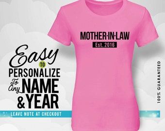 Mother-in-law gift, family, family shirt, birthday shirt, birthday gift, personalized gift, tshirt, shirt, birthday, family tree, 40s, 50s