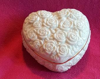 LENOX Puffed Heart Shaped Trinket Box