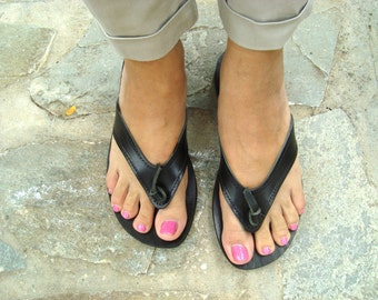 Womens sandals, Leather flip flops, Greek sandals, Leather sandals, Greek leather sandals, Brown sandals, Summer flats, Ifigeneia sandals
